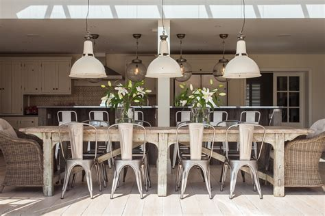 Shabby chic farmhouse table and chairs dining room shabby chic style with large dining table