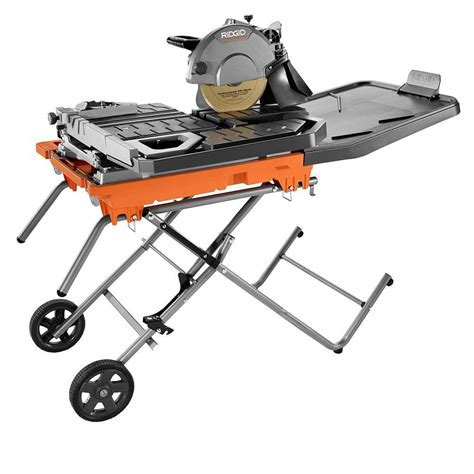 ridgid 10 in tile saw with stand r4092 the home depot