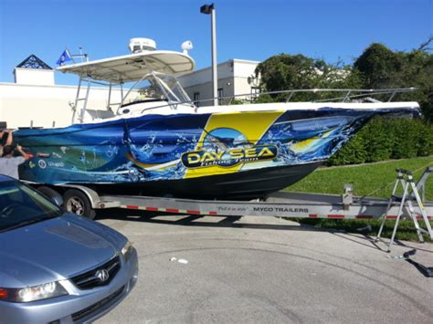 Custom Fishing Boat Graphics by Boat Vinyl Wraps Marine Wraps Florida