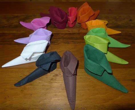 pliage serviette papier facile