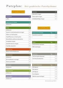 Wochenplan Haushalt Familie : putzplan der praktische putzrhythmus t glich home cleaning pinterest ~ Markanthonyermac.com Haus und Dekorationen