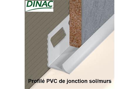 joint de jonction sol murs pvc rigide blanc 6 mm accessoires carrelage