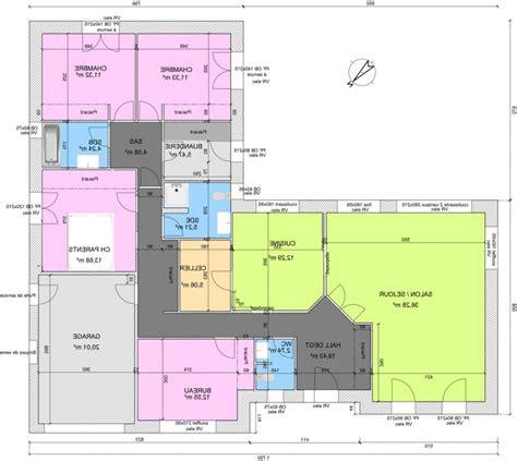 plan maison contemporaine plain pied avec garage innovatinghomedecor