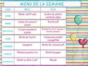 menu 1 semaine cuisinez pour maigrir