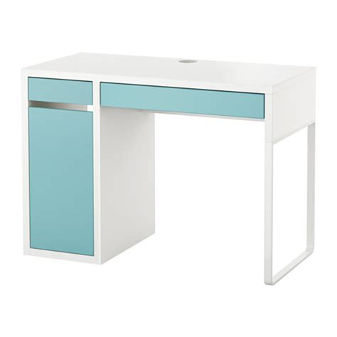 micke bureau blanc turquoise clair ikea