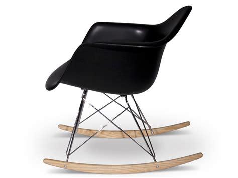 rar rocking chair charles et eames noir mobilier design pas cher