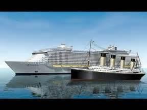 titanic v oasis of the seas ships