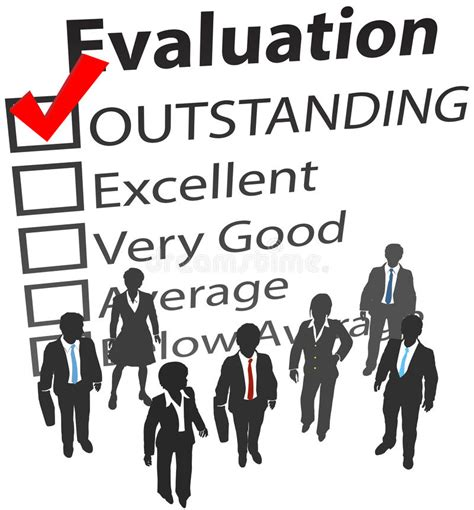 Business Team Best Human Resources Evaluation Stock Vector