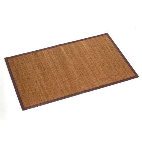 tapis de bain l 80 x l 50 cm bambou leroy merlin