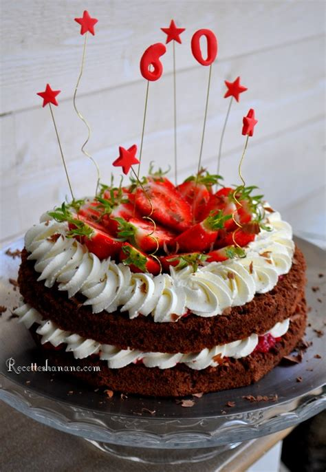 decoration gateau chocolat fraise