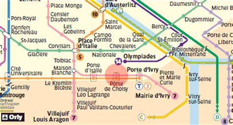 porte de choisy station map metro