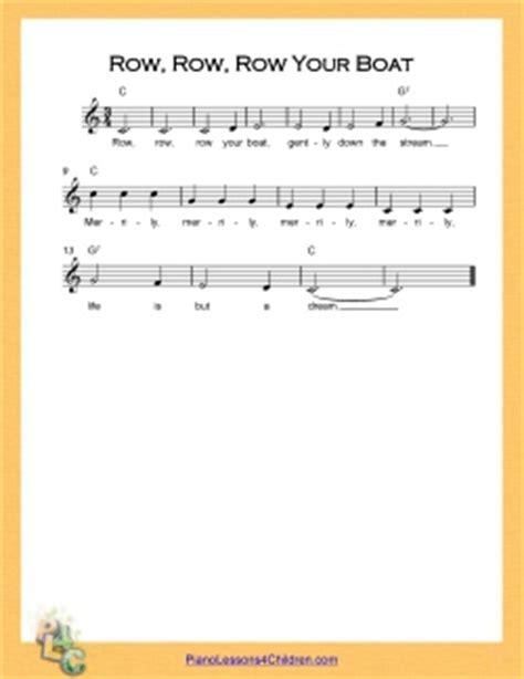 Row Row Row Your Boat Notes Piano by Free Online Piano Lessons For Row Row Row Your Boat Song