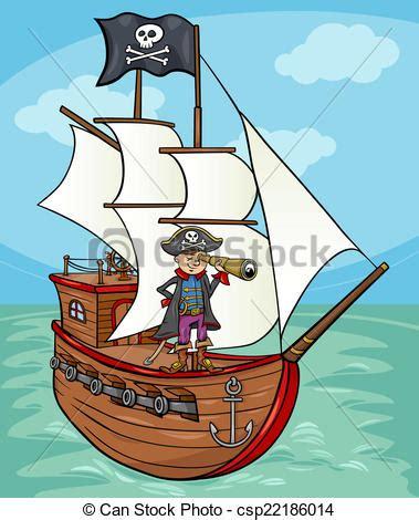 Dessin Animé Bateau Pirate by Clip Art Vecteur De Bateau Pirate Illustration Dessin