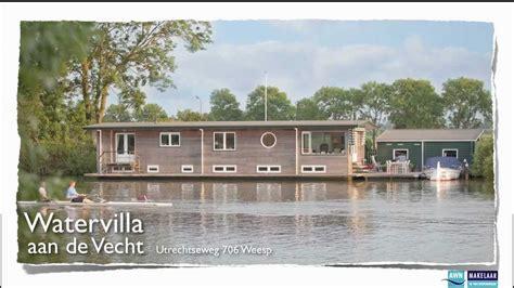 Woonboot Vecht Te Koop by Te Koop Utrechtseweg 706 Weesp Watervilla Aan De Vecht