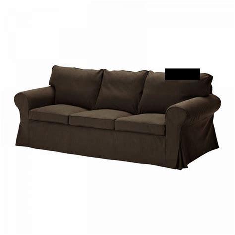 ikea ektorp 3 seat sofa slipcover cover svanby brown linen blend bezug housse