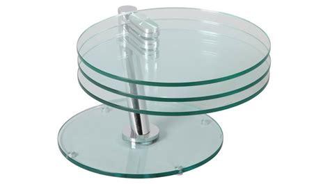 table basse ronde articul 233 e 3 plateaux verre table basse design en verre