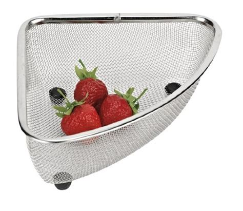 stainless steel mesh sink corner strainer basket new ebay
