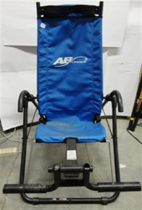 ablounge ab lounge exercise chair machine sit up crunch abdominal exerciser used ebay