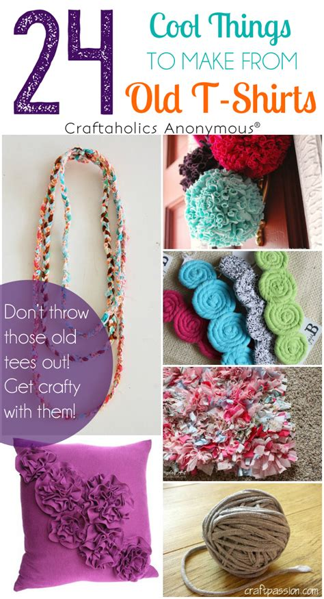 Craftaholics Anonymous®  24 Ideas For Tshirt Crafts