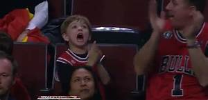 This young Bulls fan was outrageously excited to win a ...