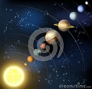 Solar System From Space Stock Vector - Image: 42321749