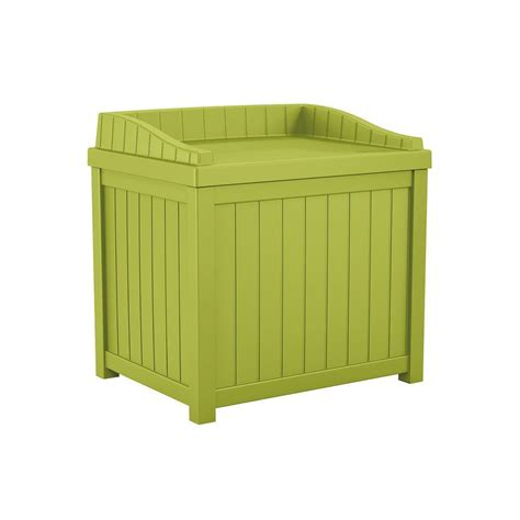 suncast 22 gal green small storage seat deck box shop your way shopping earn points