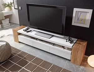 Tv Möbel Eiche Rustikal : lowboard juno ii 200x40x40 cm wei eiche tv board tv m bel tv schrank wohnbereiche wohnzimmer tv ~ Markanthonyermac.com Haus und Dekorationen