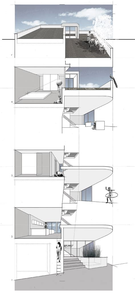 floor plans terrace split level house in philadelphia by gallery of split level house qb design 22
