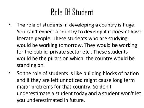 Role Of Students In Developing Nation