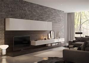 Tapete Hinter Kamin : wohnzimmer wandgestaltung 30 beispiele mit 3d effekt ~ Markanthonyermac.com Haus und Dekorationen