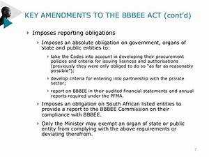 THE AMENDMENTS TO THE BBBEE ACT 53 OF 2003 AND THE CODES ...