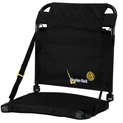 gci outdoor bleacher back chair black sporting goods