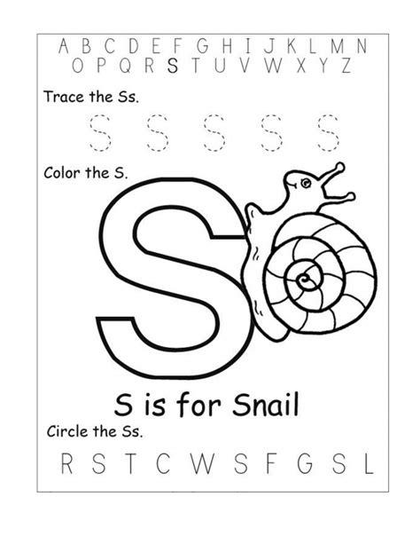 Free Printable Worksheets For The Letter S For Kindergarten  Learning Printable