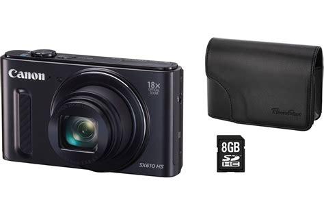 appareil photo compact canon powershot sx610 hs housse carte sd 8go 4100875 darty