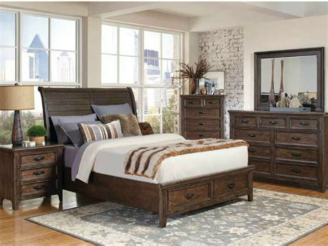 Coaster Ives Rustic Antique Mink King Bedroom Set