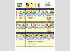 English calendar 2011