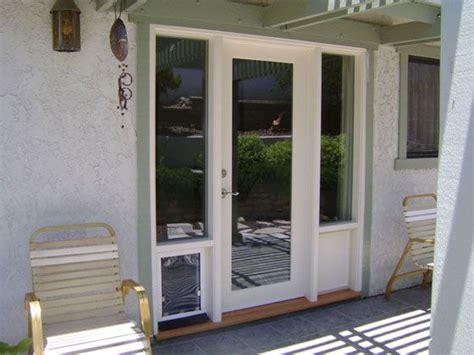 patio door with pet door built in barn and patio doors