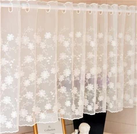 150x45cm white lace curtain cabinet kitchen curtain flower sheer curtain jpg