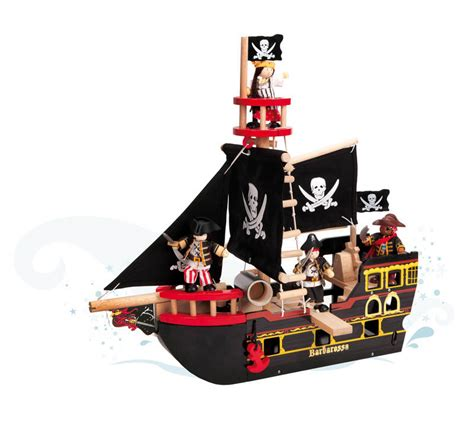 Pirate Boat Toy by Le Toy Van Barbarossa Pirate Ship
