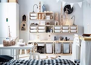 Computer Im Schlafzimmer : id e rangement chambre enfant avec meubles ikea ~ Markanthonyermac.com Haus und Dekorationen