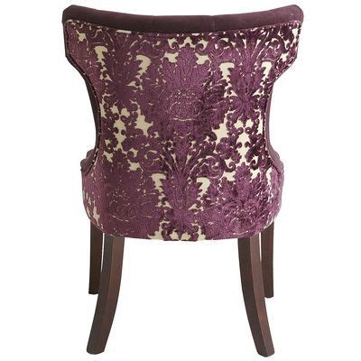 hourglass dining chair purple damask out of the ordinary pinter