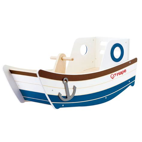 Explorer Toy Boat by Hape High Seas Early Explorer Wooden Rocker Rocking Ride