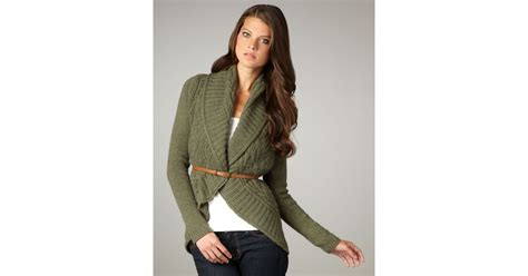 Autumn Cashmere Draped Cable-knit Cardigan In Green
