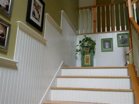 Beadboard In Stairways  These Beadboard Wallsand