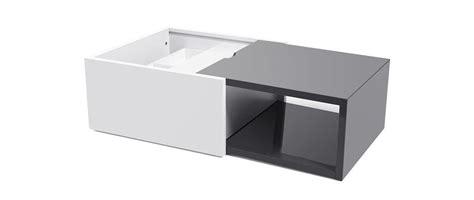 table basse design extensible avec rangement laqu 233 e grise dany miliboo