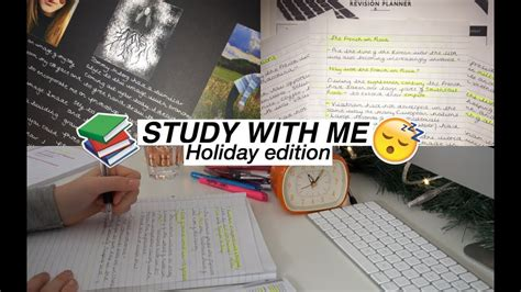Study With Me  Christmas Holiday Edition Youtube
