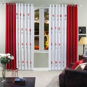 Kurze Vorhänge Für Wohnzimmer : 35 rote gardinen f r k nigliche eleganz in ihrem wohnzimmer ~ Markanthonyermac.com Haus und Dekorationen