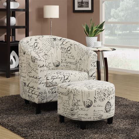Script Chair And Ottoman by Coaster Accent Seating Two Accent Chair And Ottoman