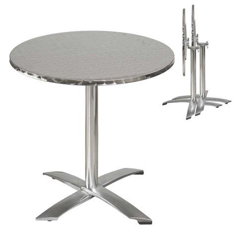 table ronde et chaise terrasse aluminium mobeventpro mobilier de restauration