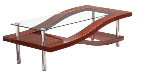 Mahogany and Chrome Coffee Table Two Color Options San Diego California GF759